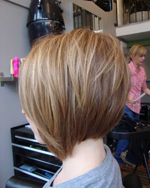 Back View for Angled Bob