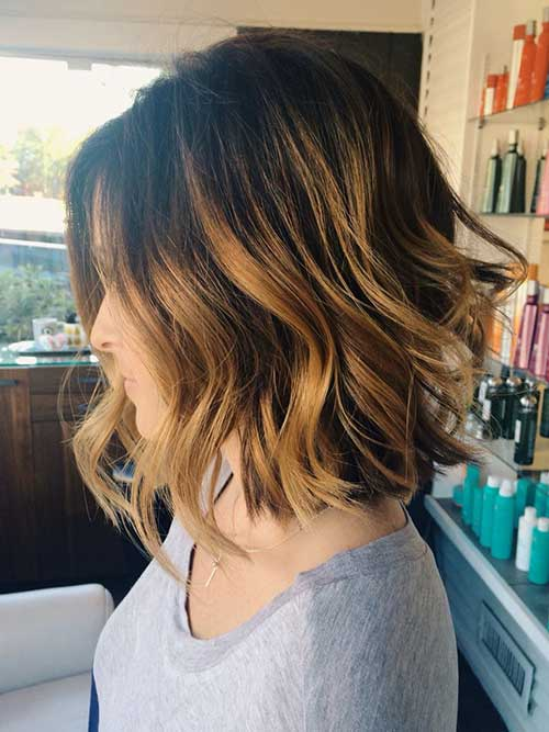 Balayage Bob Haircut for Dark Hair