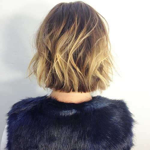 Blonde Balayage for Bob Back View Look