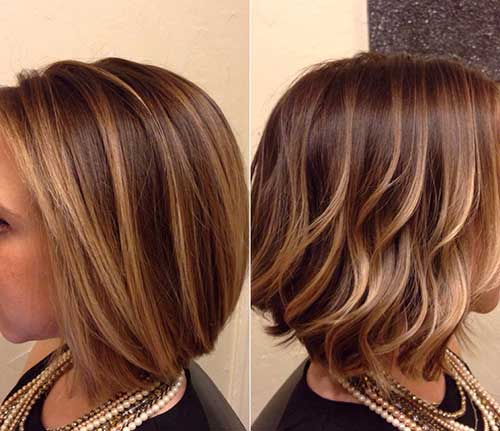 Blonde Balayage for Straight Bob Hair