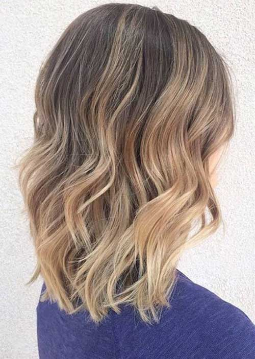 Blonde Balayage for Wavy Hair Bob Cuts