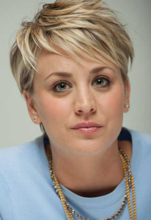 Blonde Hair Medium Pixie Cuts