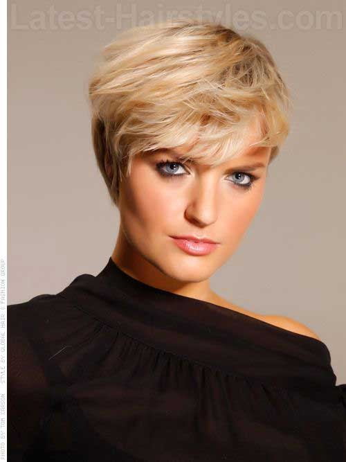 Blonde Long Pixie Cut 2015