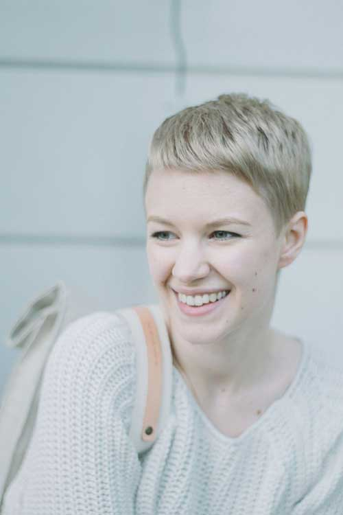 Blonde Very Short Pixie Cut Women