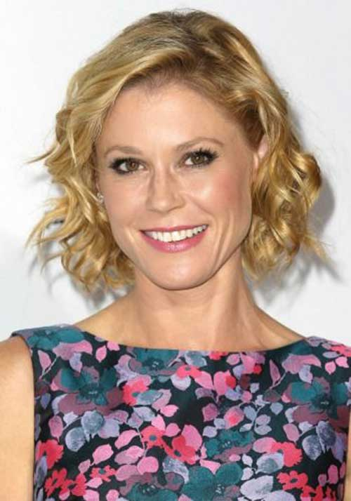 Blonde Wavy Curly Short Haircuts