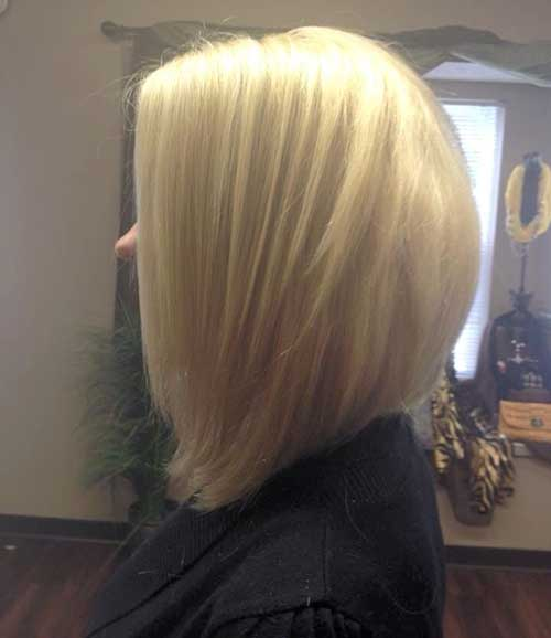 Straight Bob Haircut Back View