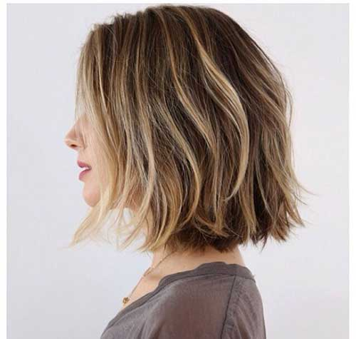 Brown Balayage Long Bob Styles