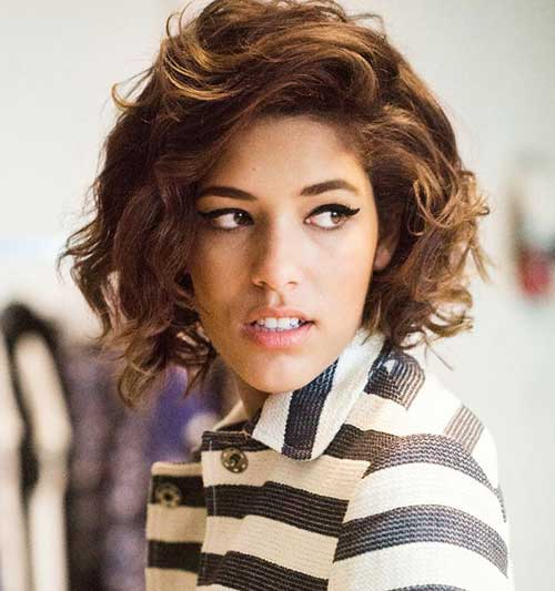 Chic Curly Short Hairstyles 2014-2015