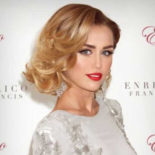 Classy Curly Short Blonde Hairstyles 2015