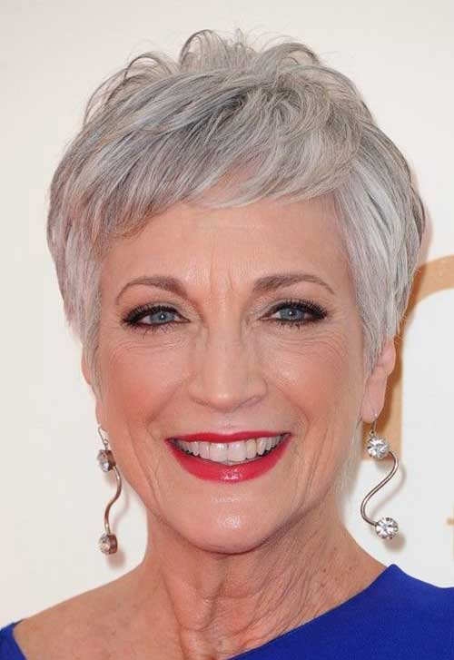 Classy Short Pixie Haircuts for Older Women