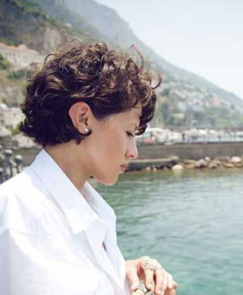 Curly Cropped Short Hairstyles