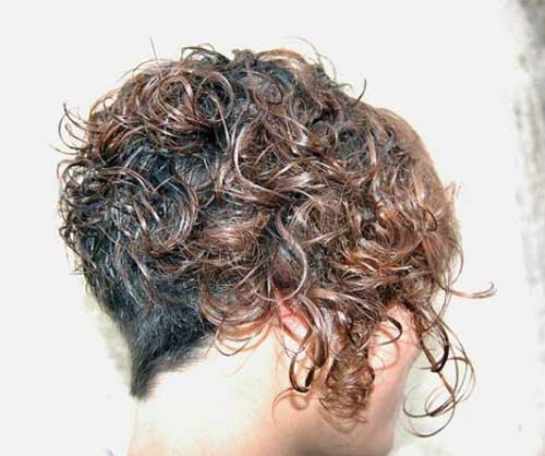 Curly Inverted Short Hairstyles 2014-2015