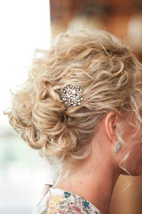 Cute Curly Short Hair Updo