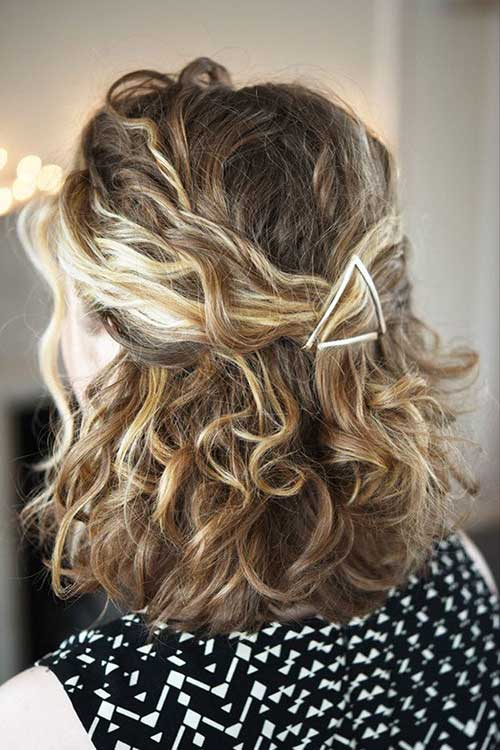 Curly Short Blonde Haircuts 2014
