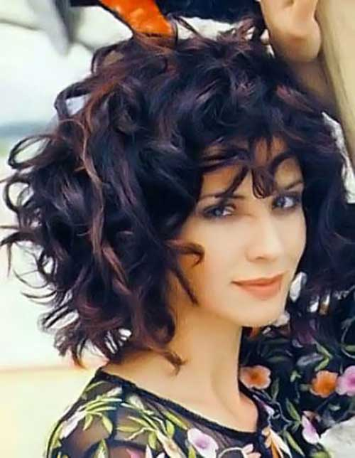 Curly Thick Short Hairstyles