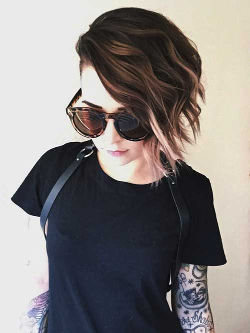 Cute Easy Short Highlighted Hairstyles