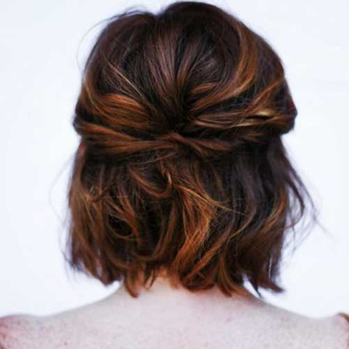 Cute Easy Short Wavy Hair Back View