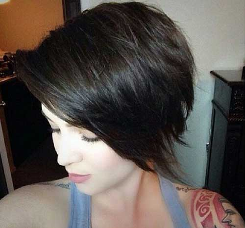 Cute Short Dark for Girl Haircuts
