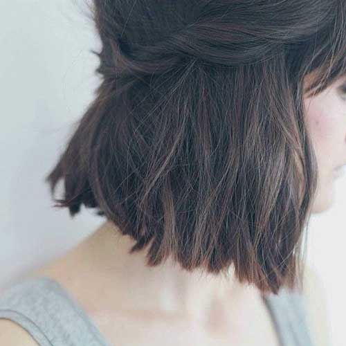 Cute Short Dark Hairstyles 2014