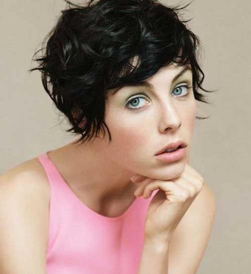 Dark Curly Short Hairstyle 2015