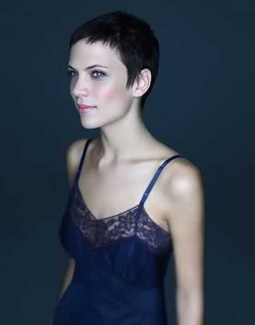 Dark Very Short Pixie Hair