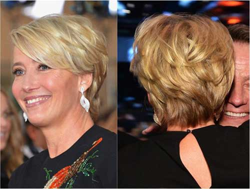 Fine Layered Short Haircuts for Older Women
