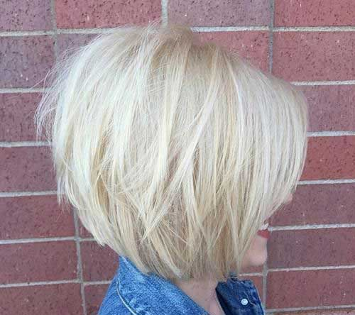 Graduated Blonde Bob Hairstyles