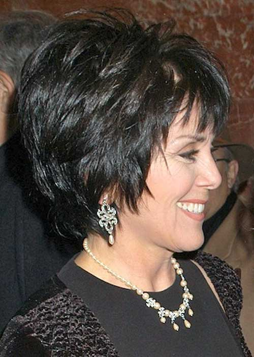 Thick Hairstyle For Short Dark Hair Over 50