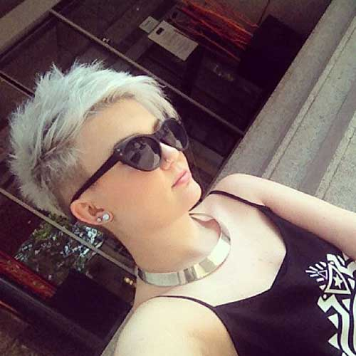 Half Shaved Short Pixie Haircuts
