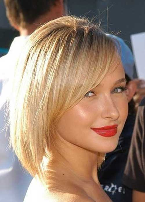 Hayden Panettiere Side Swept Bob