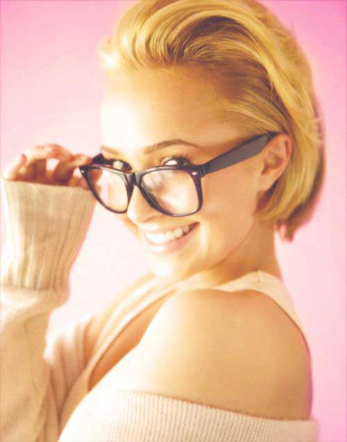 Hayden Panettiere Slicked Back Bob Hair