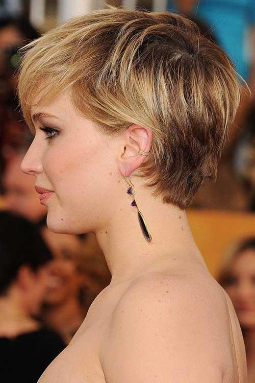 Jennifer Lawrence Shaggy Pixie Cuts