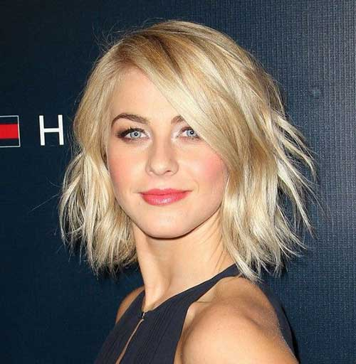 Julianne Hough Choppy Bob Cuts