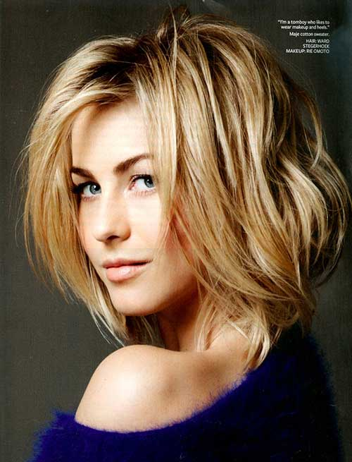 Julianne Hough Messy Bob Styles