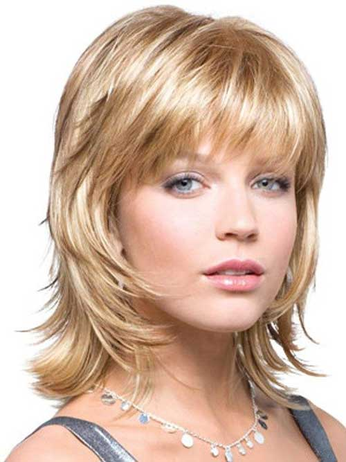 Ladies Short to Mid Shaggy Haircuts 2015
