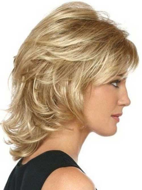 Layered Medium Short Hair Style