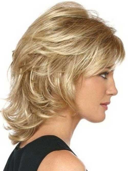 Layered Medium Short Hair Style