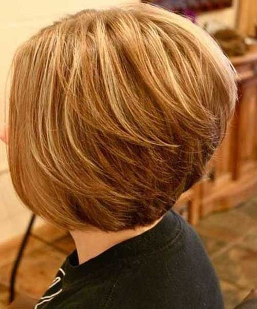 Layered Highlighted Short Hair