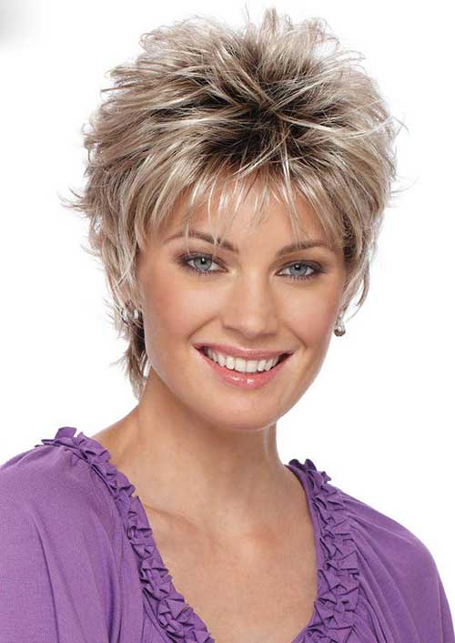 Layered Short Pixie Haircuts for Women Over 40