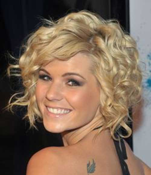 Layered Short Thick Curly Hairstyles