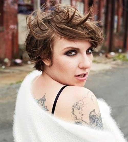 Lena Dunham Shaggy Pixie Cuts