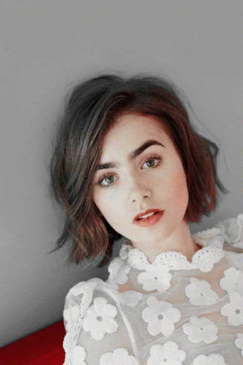Lily Collins Short Female Haircuts