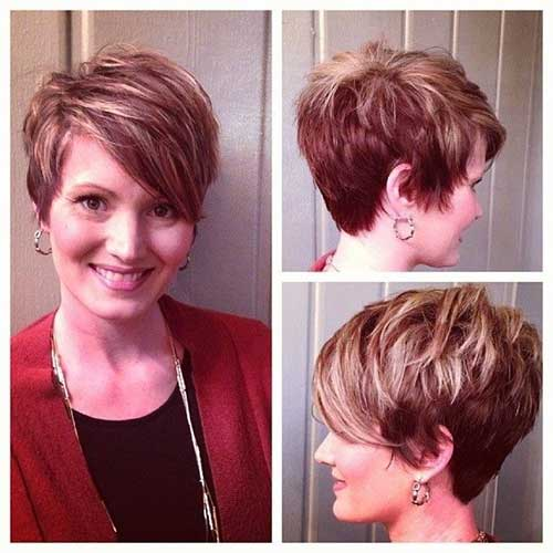 Medium Highlighted Pixie Hairstyles