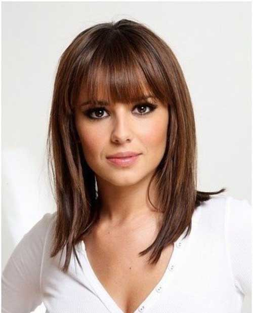 Medium Short Bob Cuts with Bangs