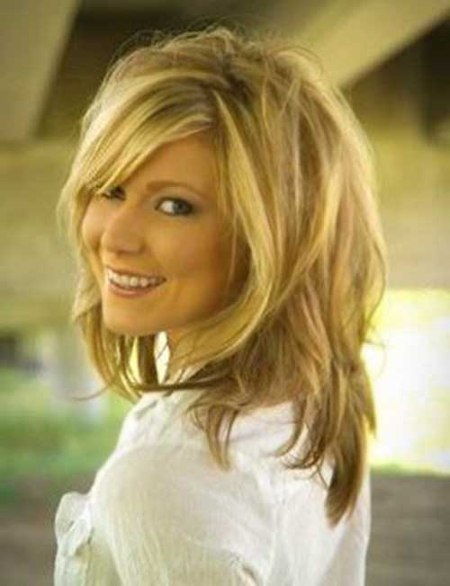Best Medium Short Hair with Layered Bangs