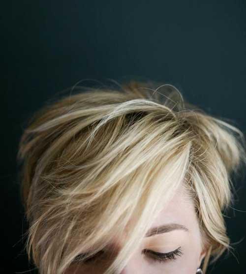 Messy Blonde Pixie Cut Styles