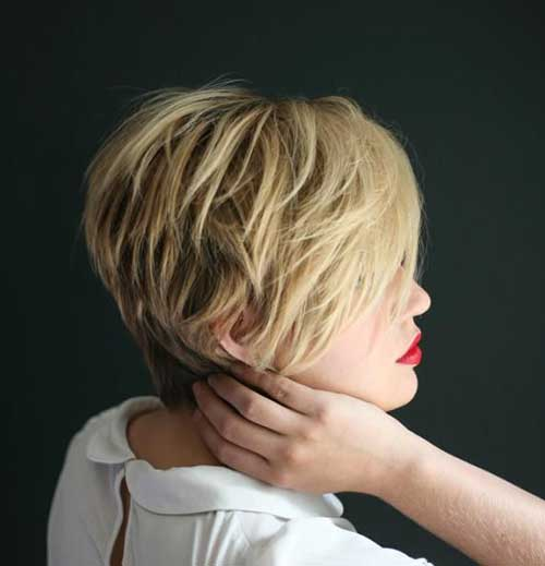 Messy Pixie Hairstyles Back View