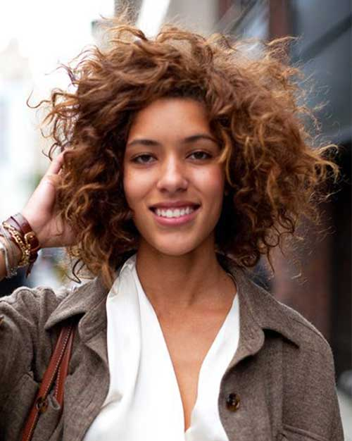 Natural Curly Short Hairstyles 2014