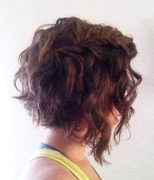 Natural Curly Short Angled Hairstyles
