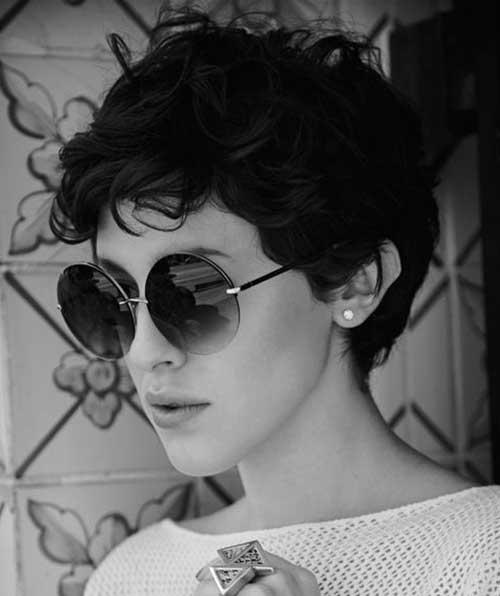 Naturally Curly Short Dark Hairstyles